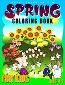 Spring Coloring Book for Kids Ages