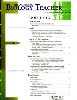 The American Biology Teacher PDF