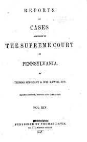 Reports of Cases Adjudged in the Supreme Court of Pennsylvania: 1825-1826