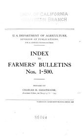 Farmers' Bulletin: Issues 1-500