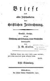 Briefe aus allen jahrhunderten der christlichen Zeitrechnung