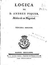 Logica de D. Andres Piquer ...