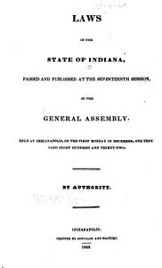 Laws of the State of Indiana PDF