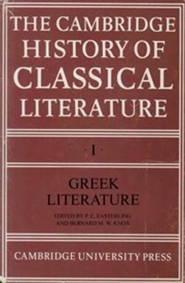 The Cambridge History of Classical Literature  Volume 1  Greek Literature PDF