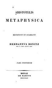 Aristotelis Metaphysica: Part 2