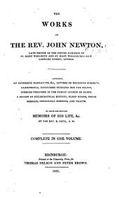 The Works of the Rev. John Newton, Etc