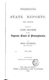 Pennsylvania State Reports: Volume 128