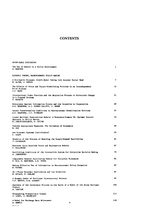 Dynamic Modelling and Control of National Economies  1986 PDF