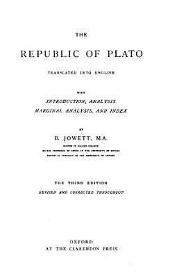 THE REPUBLIC OF PLATO TRANSLATED INTO ENGLISH