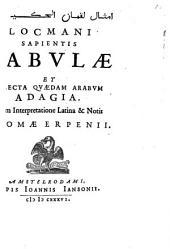 Lokman'i sapientis fabulae et selecta quaedam Arabum adagia