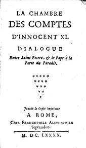 La chambre des comptes d'Innocent XI: dialogue entre Saint Pierre, et le pape à la porte du paradis