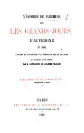 Mémoires de Fléchier sur les Grands-Jours tenus à Clermont en 1665, 1666. Publiés par B. Gonod