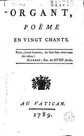 Organt, poëme en vingt chants... (par Saint-Just)
