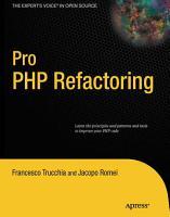 Pro PHP Refactoring PDF