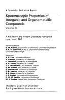 Spectroscopic Properties of Inorganic and Organometallic Compounds PDF