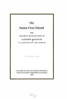 On Santa Cruz Island PDF