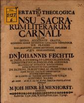 Diss. theol. de sensu sacrarum literarum carnali