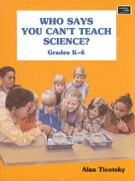 Who Says You Can t Teach Science  PDF