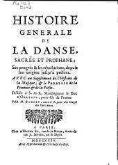 Histoire générale de la danse, sacrée et prophane