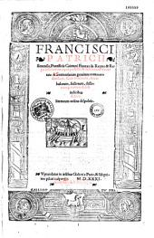 De regno et regis institutione opus profecto et historiarum variatae et sententiarum