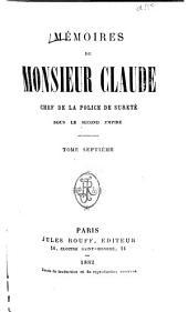 Mémoires de Monsieur Claude: Volumes7à8