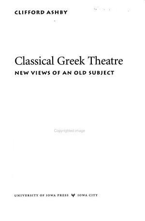 Classical Greek Theatre
