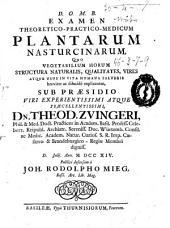 Examen theoretico-practico-medicum plantarum nasturcinarum ...