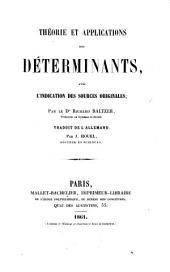 Théorie et applications des déterminants: avec l'indication des sources originales
