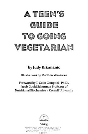 A Teen s Guide to Going Vegetarian PDF