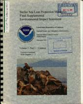 Steller Sea Lion Protection Measures: Environmental Impact Statement, Volume 1, Part 1