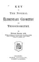 Key to the Normal Elementary Geometry and Trigonometry PDF