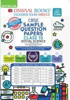 Oswaal CBSE Sample Question Paper Class 10 Social Science Book  Reduced Syllabus for 2021 Exam  PDF