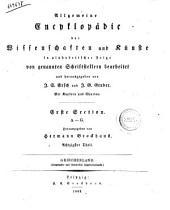 Allgemeine Encyclopadie der Wissenschaften und Kunste