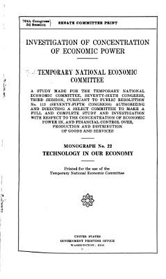 Investigation of Concentration of Economic Power  Technology in our economy PDF