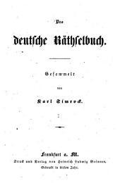 Das deutsche Räthselbuch: Band 1