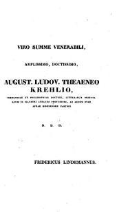 Friedrich Lindemanni orationes selectae