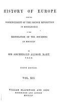 History of Europe  from 1789 to 1815   12 vols   and  Index vol PDF