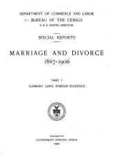 Marriage and Divorce. 1867-1906: Part 1
