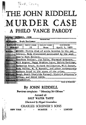 The John Riddell Murder Case PDF