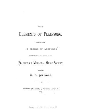 The Elements of Plainsong