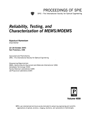 Reliability  Testing  and Characterization of MEMS MOEMS  PDF