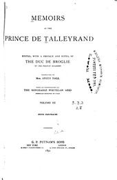 Memoirs of the Prince de Talleyrand: Volume 3