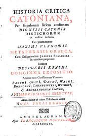 Historia critica Catoniana