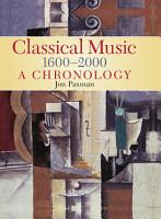 A Chronology Of Western Classical Music 1600 2000 PDF