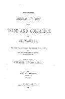 Annual Report of the Milwaukee Grain   Stock Exchange PDF