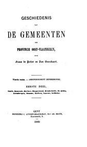 Geschiedenis van de gemeenten der provincie Oost-Vlaanderen: Arrondissement Dendermonde. Reeks 4, Volume 1