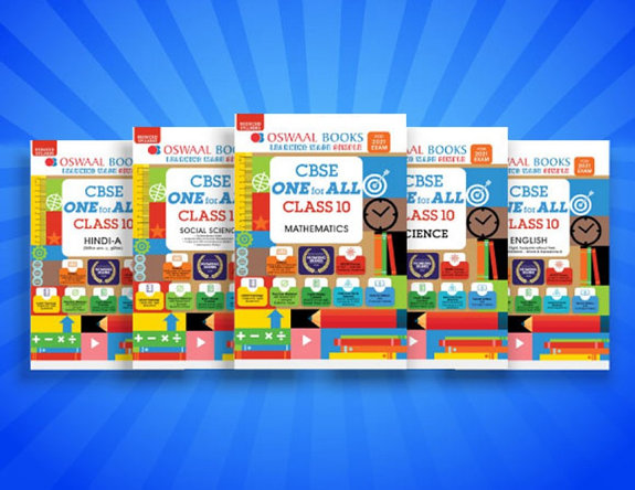 Oswaal CBSE ONE for ALL Class 10 (Set of 5 Books) Mathematics, Science, Social Science, English, Hindi A (Reduced Syllabus for 2021 Exam)