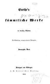 Goethe's sämmtliche Werke: Band 25