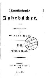 Konstitutionelle Jahrbücher: 1846