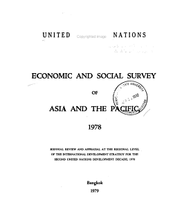 Economic and Social Survey of Asia and the Pacific PDF